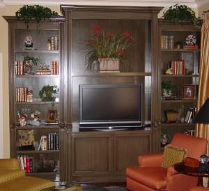 T.V. Cabinet with bookshelves