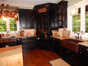 Custom kitchen with farm sink