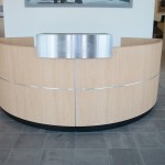 Custom receptionist desk