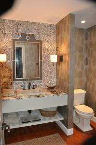 Custom built bathroom vanity.
